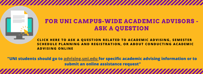 Ask a question- Form for UNI ACADEMIC ADVISORS