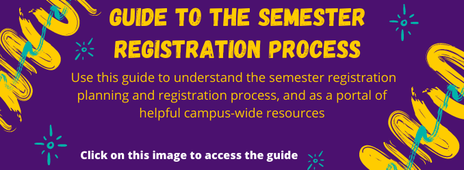 Guide to the Semester Registration Process - Advisors